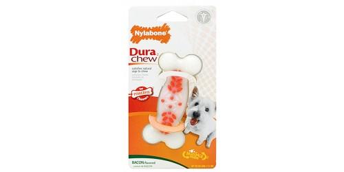 Nylabone  Dura Chew os avec Texture saveur de Bacon pour chien