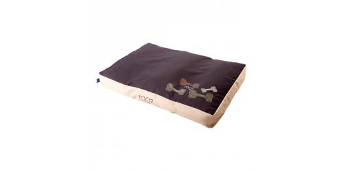 Rogz Lit Flat Podz  x-large brun  (Réversible uni sur un coté et motif sur l'autre)