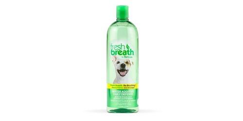 Tropiclean 1 Litre Fresh Breath Sans Brossage Défense quotidienne aide à combattre la plaque et le tartre.