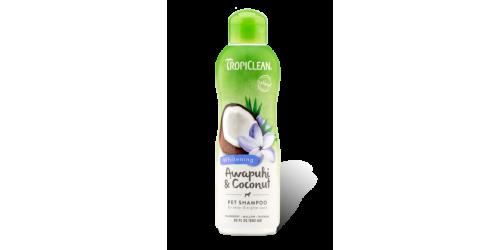 Tropiclean Shampoing Awapuhi & Coconut  Éclaircit le pelage blanc et redonne de la brillance