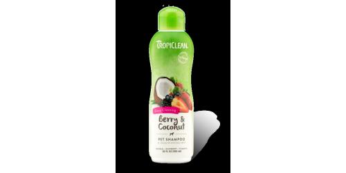 Tropiclean Shampoing petit fruit & noix coco Élimine odeurs et Nettoie en Profondeur