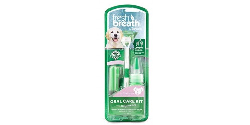 Tropiclean  kit de soins bucco-dentaires Fresh Breath pour chiot